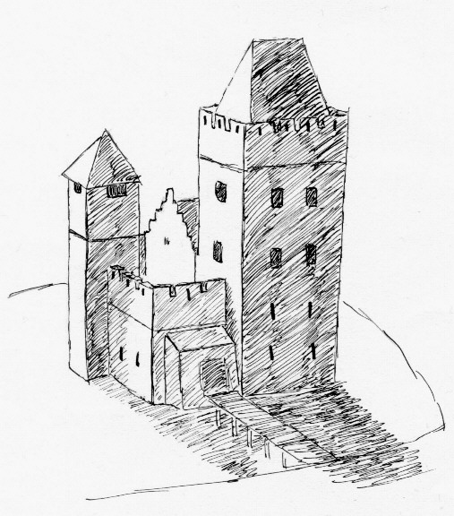 Reconstruction of Middelburg Castle.