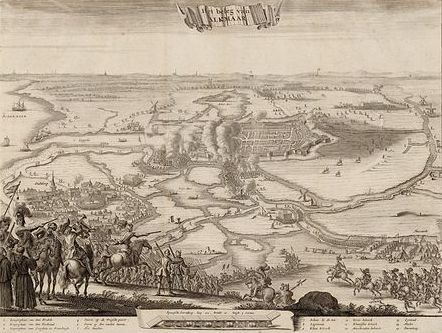 Laying siege to Alkmaar in 1573.